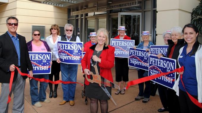 Ribbon cutting: Debbie Peterson Supervisor 2016