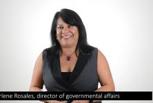 Charlene Rosales San Luis Obispo Chamber of commerce legislative update on Self-Help County, marijuana and plastic bag bans.