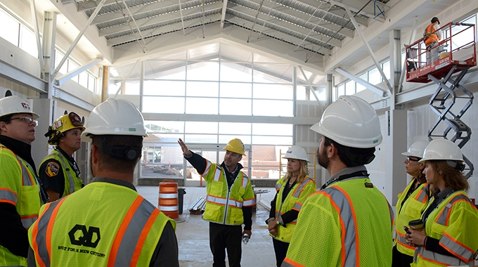 A tour of the new airport terminal
