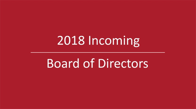 Introducing your 2018 Chamber Board of Directors