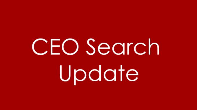 CEO search takes next step