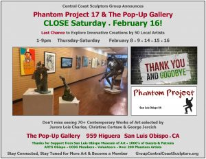 Phantom Projects At The Pop Up Gallery End February 16