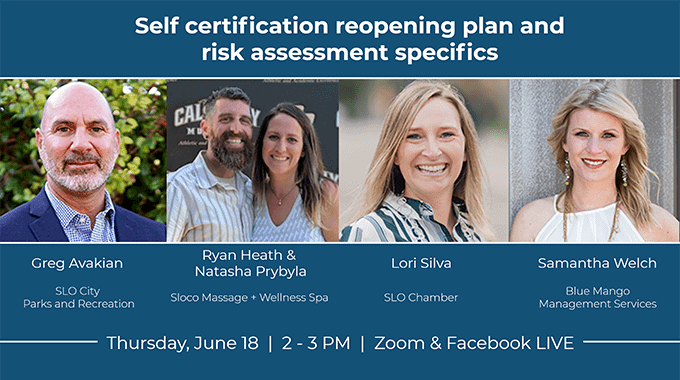 webinar self certification reopening plan and risk assessment specifics