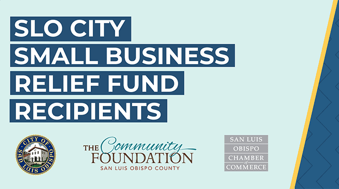 Recipients announced for SLO City Small Business Relief Fund